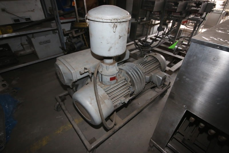 Busch 15 hp Vacuum Pump, with Toshiba 1165 RPM Motor, Mounted on Portable Frame (LOCATED IN COLTON, CA--RIG FEE $200.00)