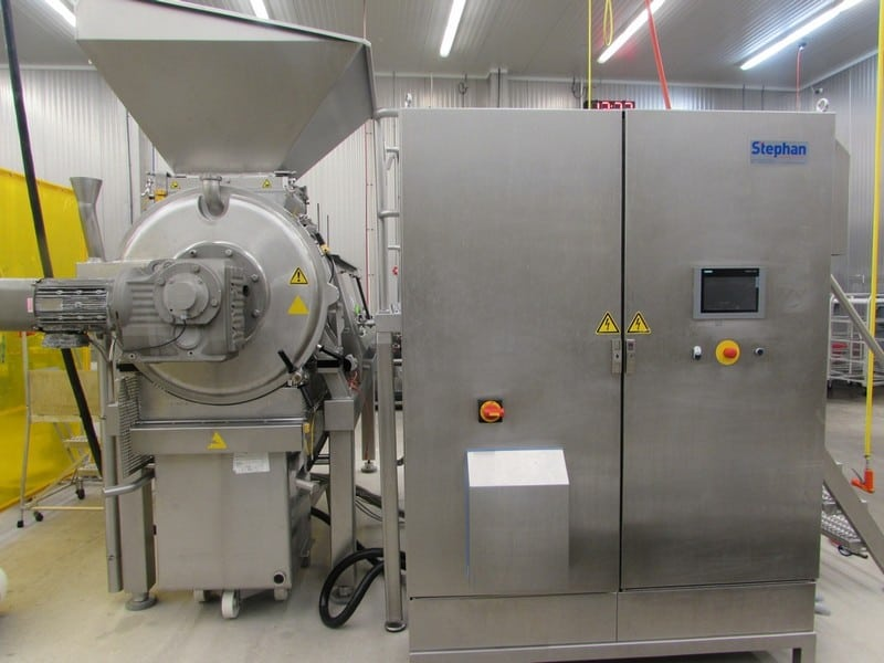 "2015 Stephan TC 300 Combicut Batch Mixer / Cutter / Disperser / Emulsifier, Model TC 300, S/N 11500028, 100 - 220 Liters ( 26 - 58 Gallons, 10' 6"" L x 54"" W x 84"" H W/O Hopper, 111"" H with Hopper, Includes Associated 2-Door S/S Control Panel & Operator Platform, Over $385,000 Cost in 2015"