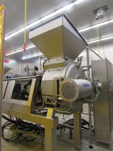 "2008 Stephan TC 300 Combicut Batch Mixer / Cutter / Disperser / Emulsifier, Model TC 300, S/N 108072, 100 - 220 Liters ( 26 - 58 Gallons, 10' 6"" L x 54"" W x 84"" H W/O Hopper, 111"" H with Hopper, Includes Associated 2-Door S/S Control Panel & Operator Platform, Over $340,000 Cost in 2008"