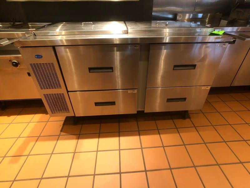 "Randell 60"" Refrigerator / Sandwich Prep Table, Model 9040K-7, S/N W950200-1, (2) Sections, 60"" W x 33"" D x 44"" H (Located at 6300 Northway Mall Dr., Pgh., PA 15237)"