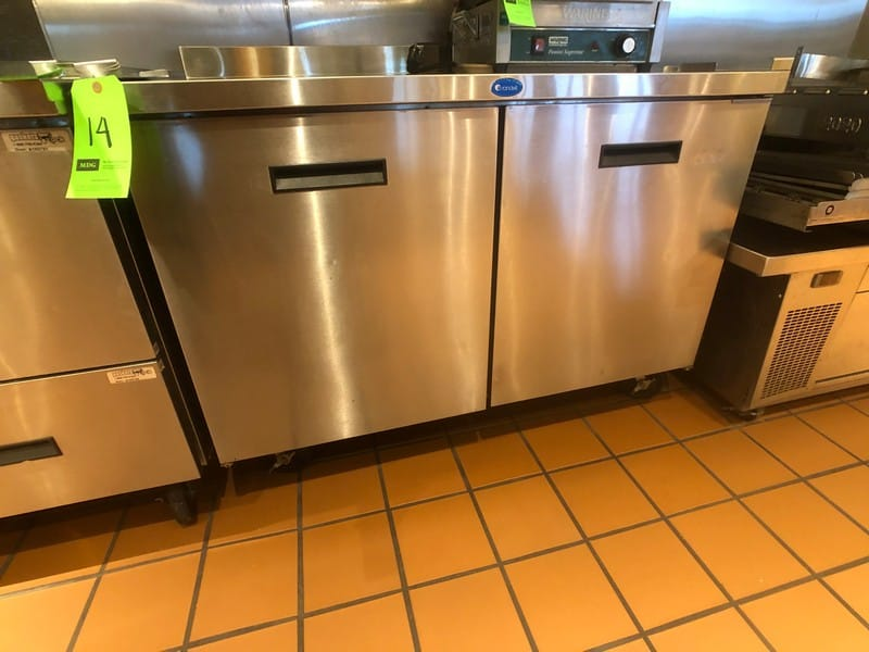 "Randell (2) Door Worktop Refrigerator, Model 9302-7, 48"" W x 30"" D x 36"" H, Mounted on Casters (Located at 6300 Northway Mall Dr., Pgh., PA 15237)"