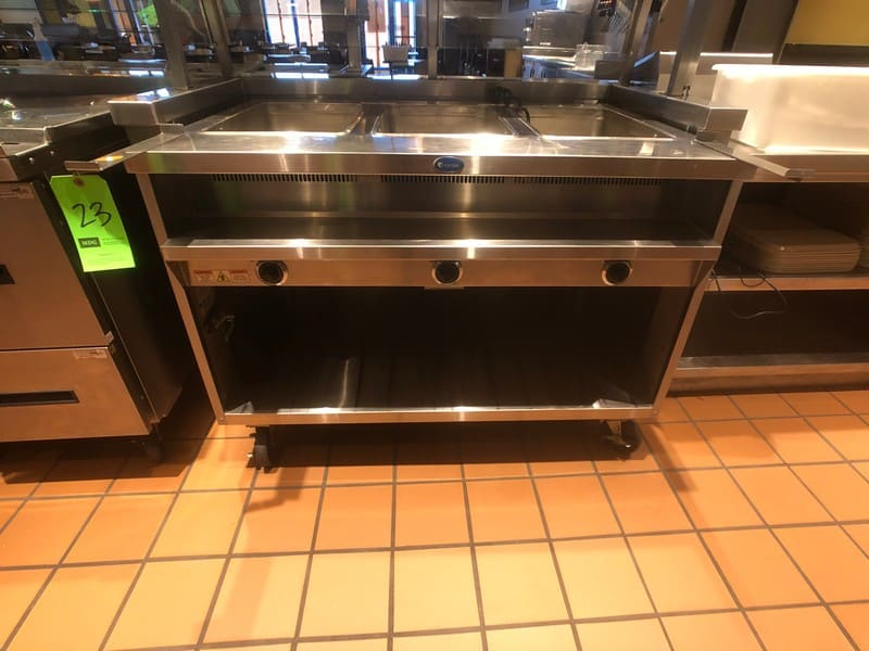 "Randell Open Base Electric Hot Food Table, Model 3613-240, S/N W1041760-1, 48"" W x 33"" D x 36"" H (Located at 6300 Northway Mall Dr., Pgh., PA 15237)"