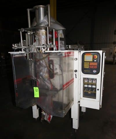 Ilapak Vegatronic VFFS, M/N VT400SP, S/N S22294, 230 Volts, with Digital Read Out, with Control Panel (NOTE: Missing Some Components--See Photographs)