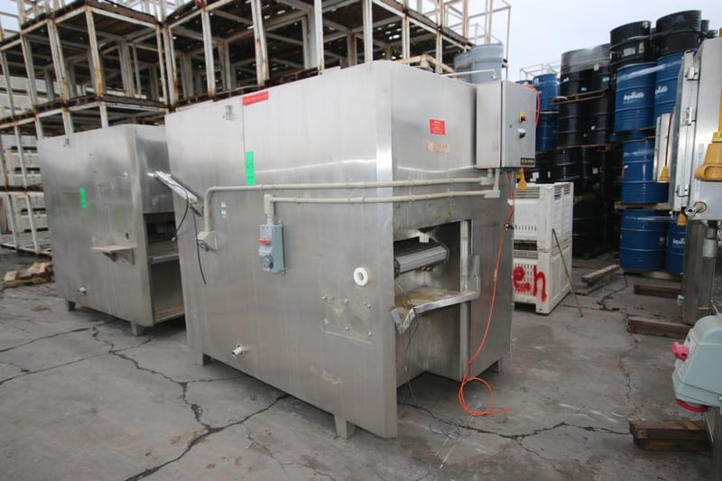 """2008 IQF S/S Cyrogenic Tunnel, M/N 1000-S01 Cryo Gran, S/N MC 06081000S01, 460 Volts, with Aprox. 20"""" W Belt, Top Fed Unit, Mounted on S/S Legs, with Control Panel"""