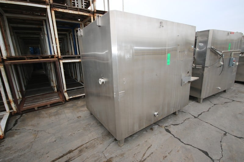 """IQF S/S Cyrogenic Tunnel, M/N 1000-S01 Cryo Gran, 460 Volts, with Aprox. 56"""" L x 20"""" W Belt Conveyor, Top Fed Unit, Mounted on S/S Legs, with Control Panel"""