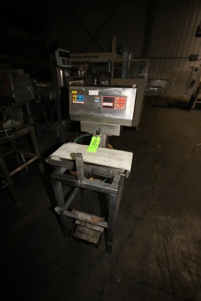 """Ramsey Engineering Icore S/S Check Weigher, M/N Mark II, with Digital Read Out, with Conveyor, Aprox. 24"""" L x 10"""" W, Mounted on S/S Frame"""