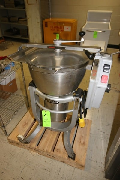 "Hobart S/S VCM, M/N HCM450, S/N 31-338-640 with 5 hp Motor, 1140 RPM, 230/460 Volts 3 Phase, with S/S Blades, Aprox. 10"" Deep x 20"" Dia. Bowl (LOCATED IN KITCHEN AREA)"