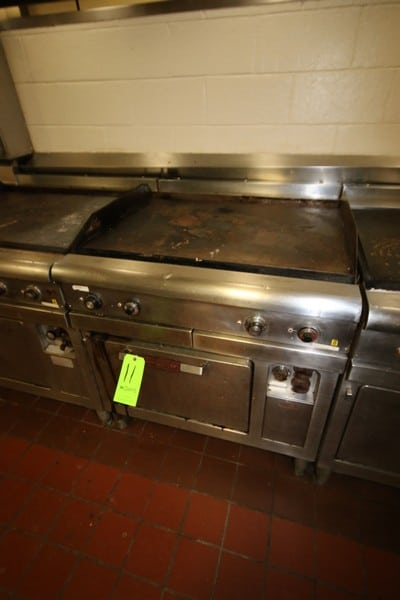 General Electric S/S Oven, M/N CR42C, S/N SCD6228, with Top Mounted Skillet, 197-219 AC Volts (LOCATED IN KITCHEN AREA)