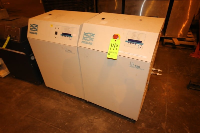 Neslab Recirculating Chillers, M/N HX150, with Digital Displays (LOCATED IN WAREHOUSE AREA)