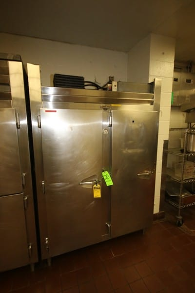 """Traulsen 2-Door S/S Refrigeration Unit, with Internal S/S Rack, with Top Mounted Compressor, Overall Dims.: Aprox. 59"""" L x 34"""" W x83-1/2"""" H (LOCATED IN KITCHEN AREA)"""
