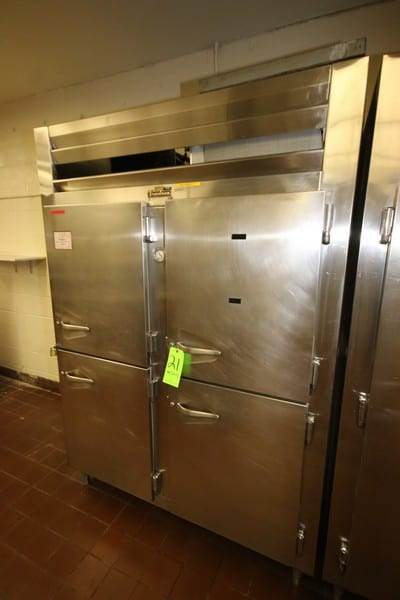 """Traulsen 4-Compartment S/S Refrigeration Unit, Overall Dims.: Aprox. Aprox. 59"""" L x 34"""" W x83-1/2"""" H, with Top Mounted Compressor (LOCATED IN KITCHEN AREA)"""