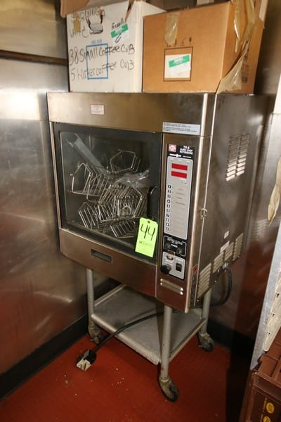 Henny Penny S/S Single Door Sure Chef Rotisserie, M/N TR-6, S/N DE070IF, 208 Volts, 1 Phase, Mounted on Portable Frame (LOCATED IN KITCHEN AREA)
