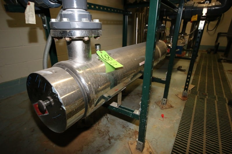 """Ultraviolet S/S Purification UF Tube, M/N EP-10L, S/N 10315, 115 Volts, 200 GPM, 150 PSI, with Control Panel, Tube Dims.: Aprox. 64"""" L x 11"""" Dia. (LOCATED IN DEIONIZED WATER SYSTEM ROOM)"""
