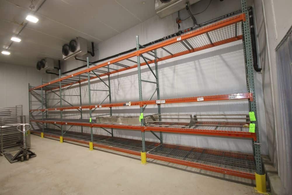 Multiple Sections of Pallet Racking