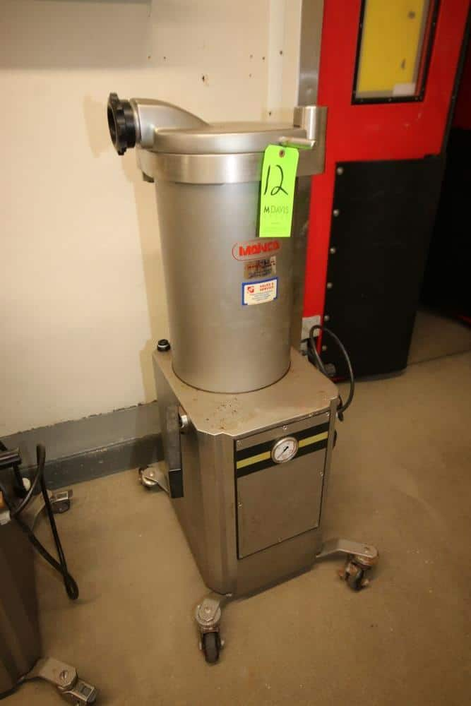 Manica S/S Sausage Filler/Stuffer, M/N EM-30, S/N 4387, 220 Volts, 3 Phase, Mounted on Portable Frame (LOCATED IN GLOUCESTER, MA)