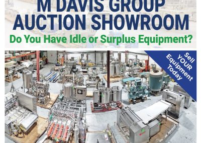 Food & Beverage Processing & Packaging Equip Auction @ the MDG ShowroomMarch 18th – 25th, 2021Pittsburgh, PA